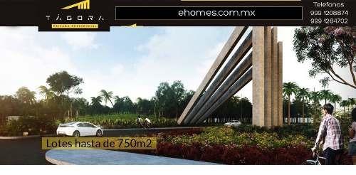 venta de lotes privada tagora con amenidades, desde $625 m2, 36 meses s/i