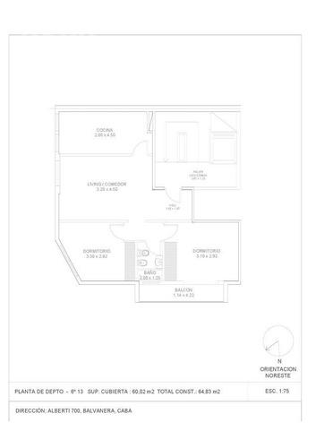 venta de luminoso departamento de tres ambientes en esquina .  retasado!!!