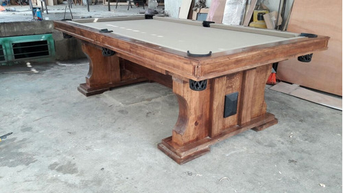 venta de mesas de billar modelo rustico con accesorios