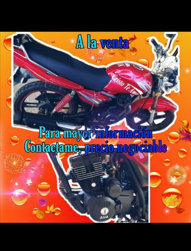 venta de moto ava poco uso