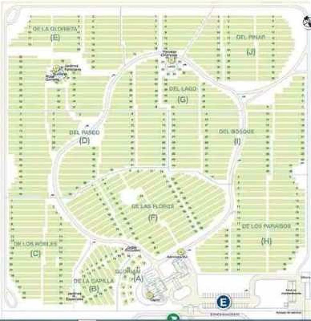 venta de parcela en cementerio parque gloriam, burzaco.