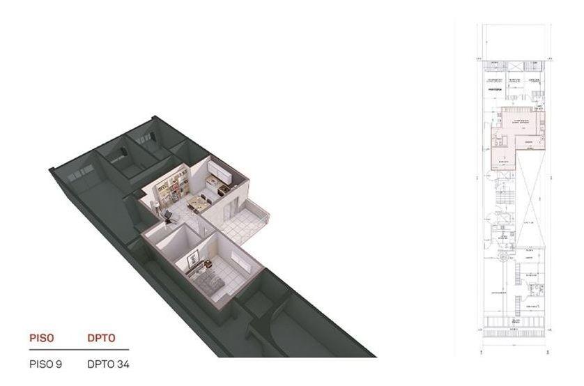 venta de pozo 2 amb. -balcón - coch. opcional