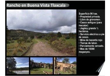 venta de rancho en tliltepec tlaxcala.
