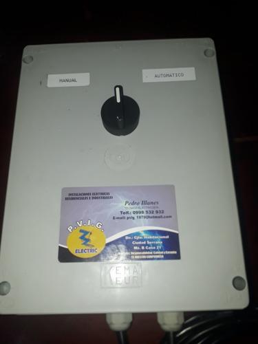 venta de tableros manual o automático para cab. desinfección