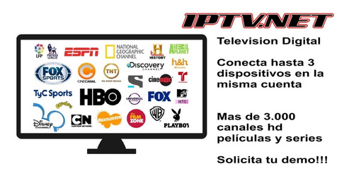 venta de televisión por internet iptv más 3000 canales
