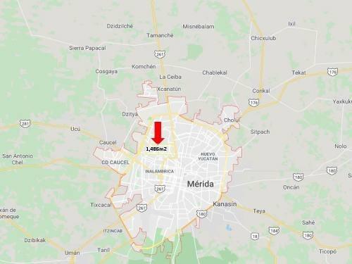 venta de terreno 1846 m2 colonia uxmal 5 minutos zona comercial y periferico