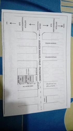 venta de terreno 5,000m² en pachacamac
