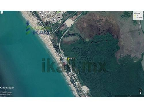 venta de terreno cerca de la playa de tuxpan veracruz zona hotelera. frente al hotel mediterráneo en tuxpan veracruz. ubicado en la carretera a la termoeléctrica, con 60 metros de fondo y 75 metros d