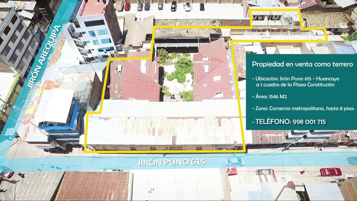 venta de terreno comercial centro de huancayo