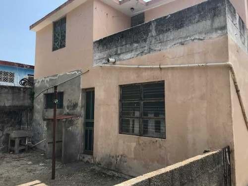 venta de terreno con construcción en tampico, col. del pueblo