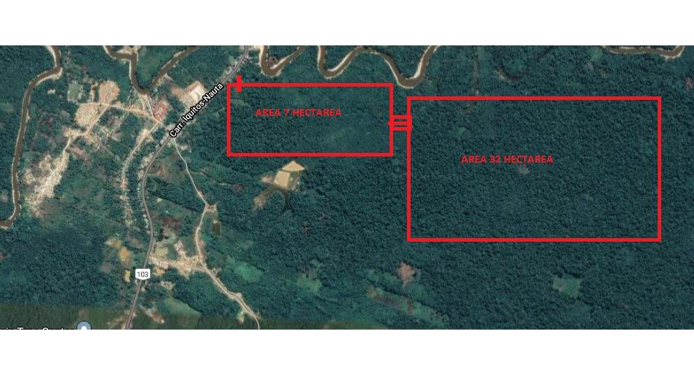 venta de terreno con título iquitos 39 hectáreas
