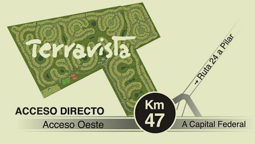 venta de terreno de 1200 mts en terravista, gral. rodriguez
