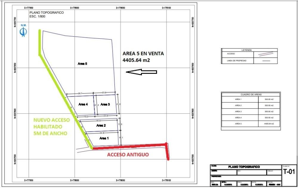 venta de terreno de 4405 m2 para proyecto inmobiliario