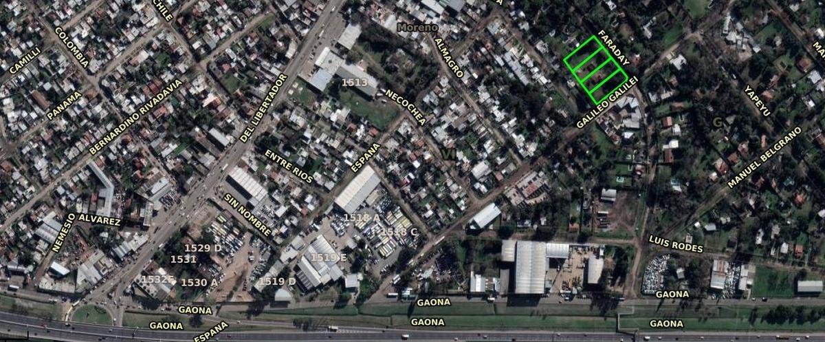 venta de terreno de 4500mts. a 4 cuadras de el acceso oeste colectora norte, moreno.