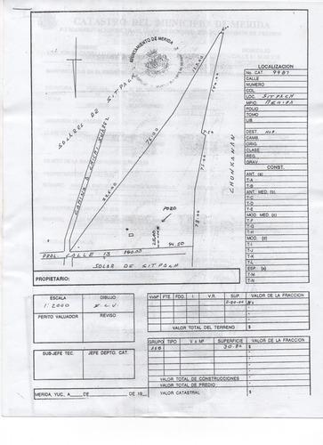 venta de terreno dos hectareas en sitpach ( se puede vender 1ha)