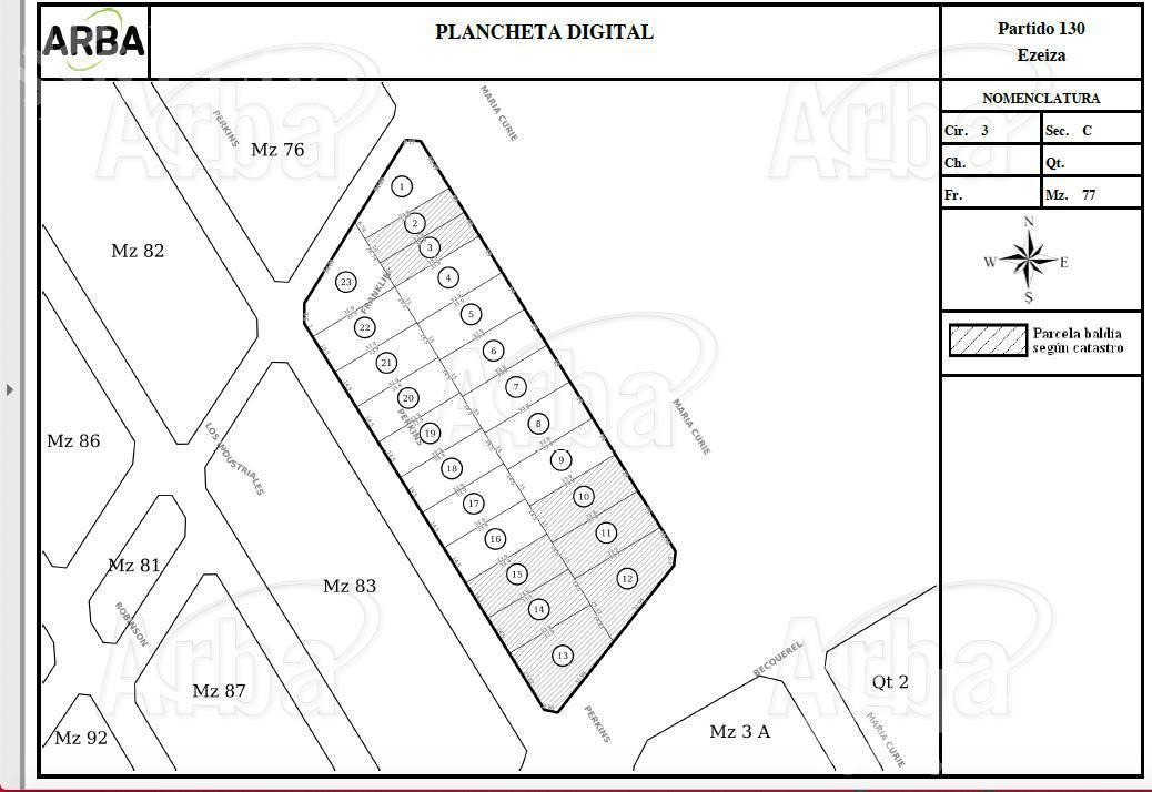 venta de terreno  en carlos spegazzini ezeiza(25369)