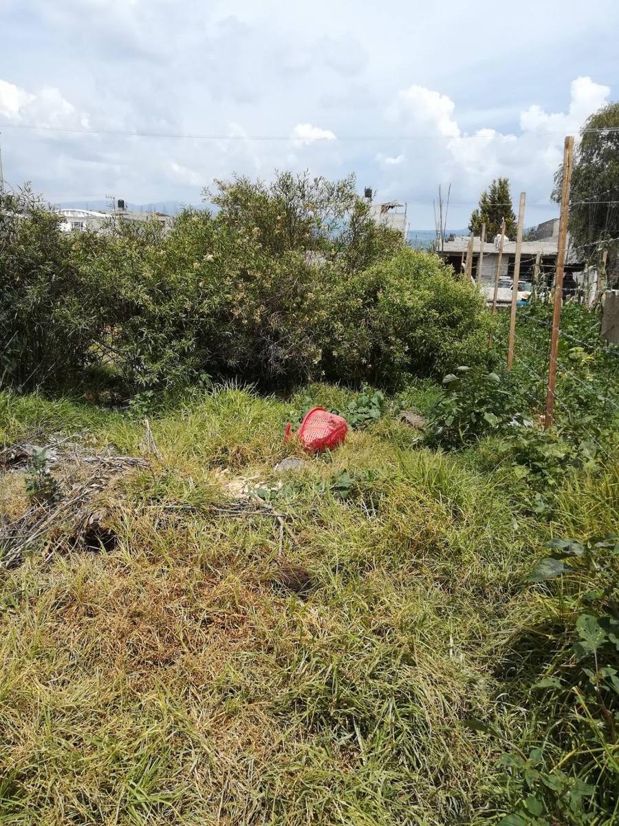 venta de terreno en chalco con servicios agua y drenaje