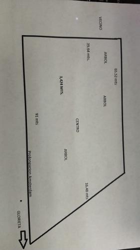 venta de terreno en corregidora, en prol. amsterdam  3,424m2 a $4,000.00m2 mixto