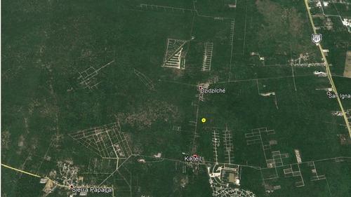 venta de terreno en kikteil dzidzilche merida , yucatan