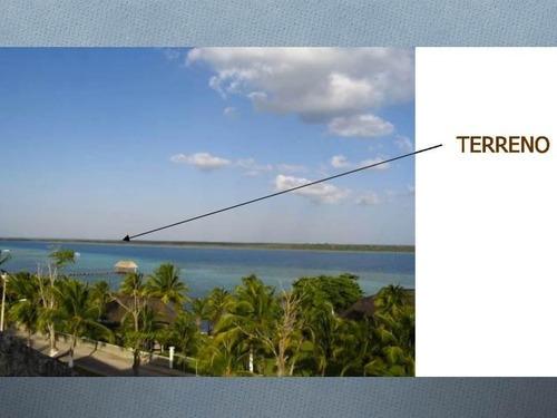 venta de terreno en lagunas de bacalar con frente de playa a la laguna