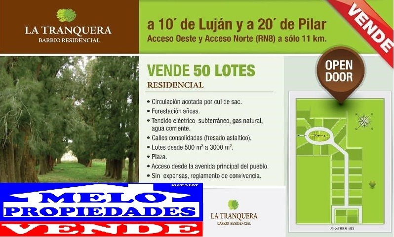 venta de terreno en lujan open door  25 b sin expensas