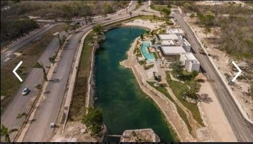 venta de terreno en merida, en privada con lago listo para entrega