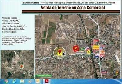 venta de terreno en zona comercial huehuetoca