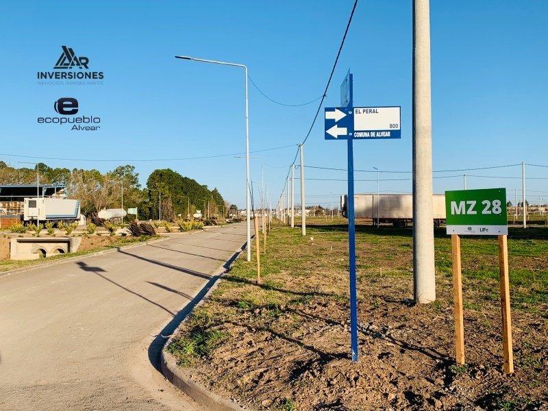 venta de terreno lote en alvear - barrio residencial abierto - todos los servicios - de 264 m2 en ecopueblo