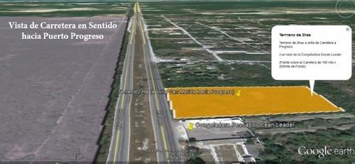 venta de terreno sobre carretera mérida- progreso