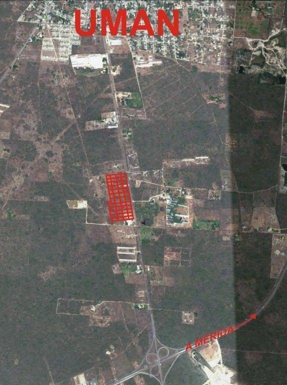 venta de terreno sobre carretera uman, yucatan