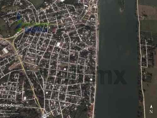 venta de terreno ubicado en calle la rivera #124 colonia hidalgo de gutiérrez zamora con una hermosa vista al río, muy cerca del puente, la zona cuenta con todos los servicios públicos, 600 m² con 30