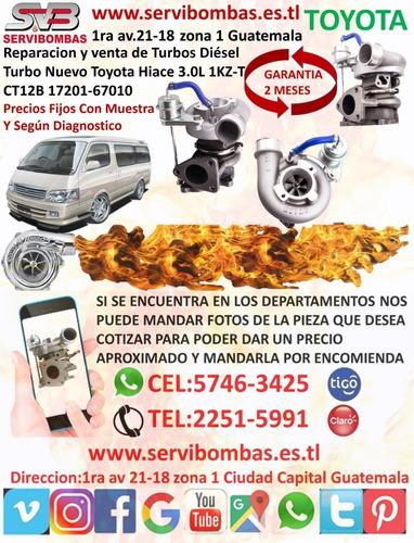 venta de turbo diesel toyota hiace 3.0 1kz ct12b guatemala