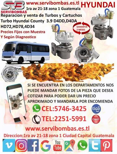 venta de turbo hyundai county 3.3 d4al en guatemala