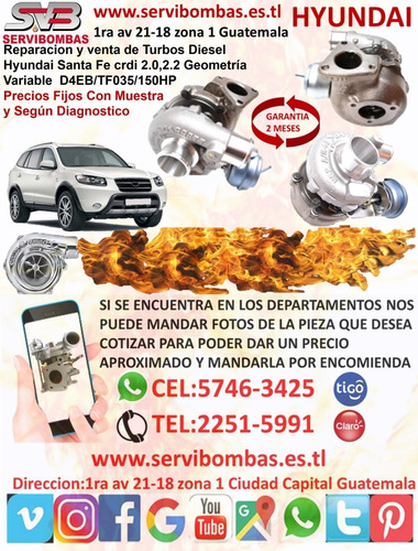 venta de turbo hyundai grace 2.5 d4bf guatemala