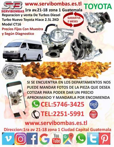venta de turbo toyota 4runner 3.0l d 1kz-t ct12b guatemala
