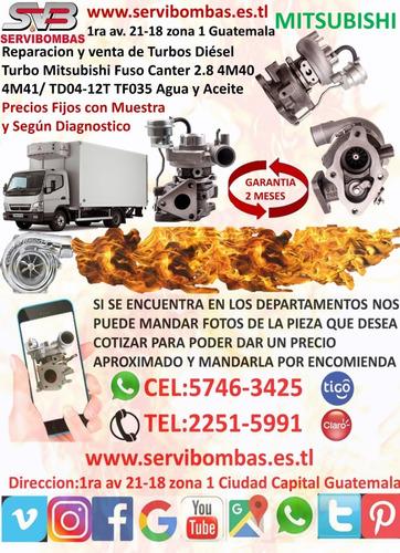venta de turbos mitsubishi nativa 4m40 2.8 tf035 guatemala
