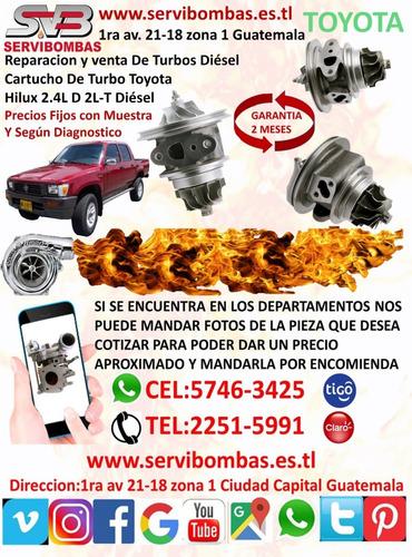 venta de turbos toyota hilux 2.8/2.4 1gd/2gd  ct16v guatemal