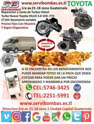 venta de turbos toyota hilux 2kd 2.5 guatemala