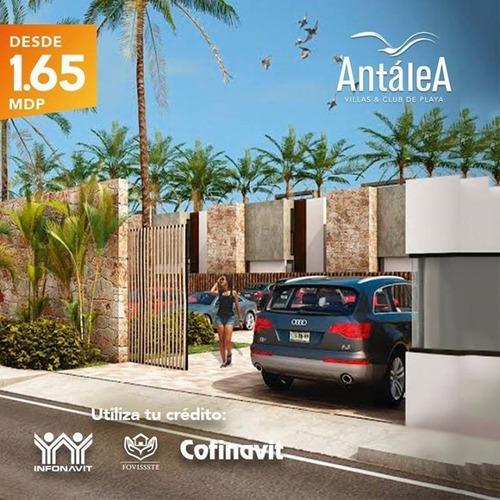 venta de villas y club de playa antalea !!! en telchac puerto