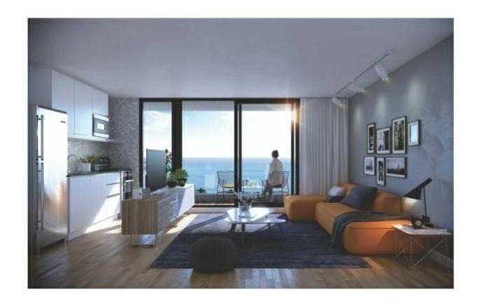venta deapartamento de 1 dormitorio con 2 baños y 2 terrazas