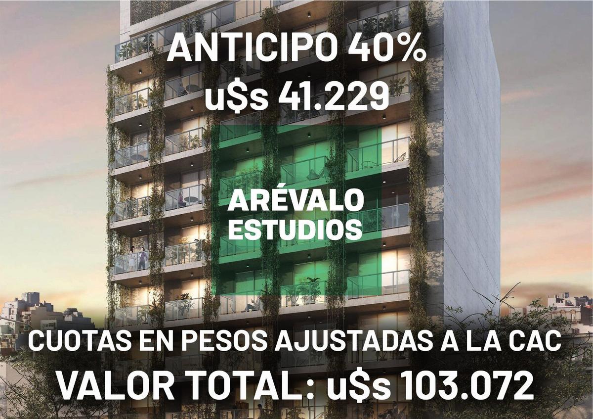 venta departamento 1 ambiente palermo hollywood - anticipo mas cuotas en pesos