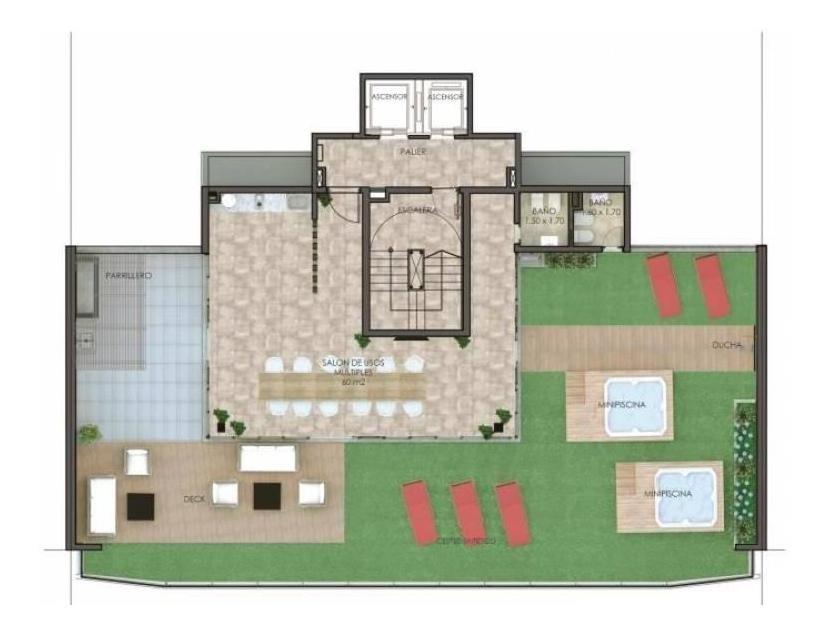 venta departamento 1 dormitorio frente campo de la gloria - san lorenzo