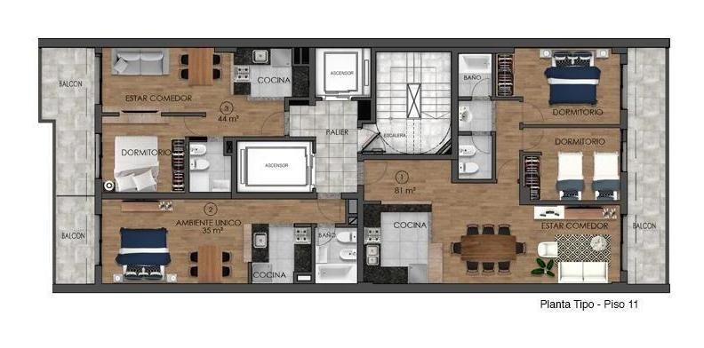 venta departamento 1 dormitorio-san martin 1624-centro-calidad bbz