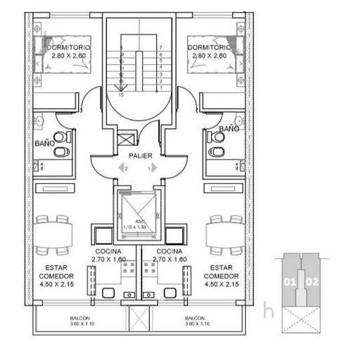venta departamento 1 dormitorio semipiso