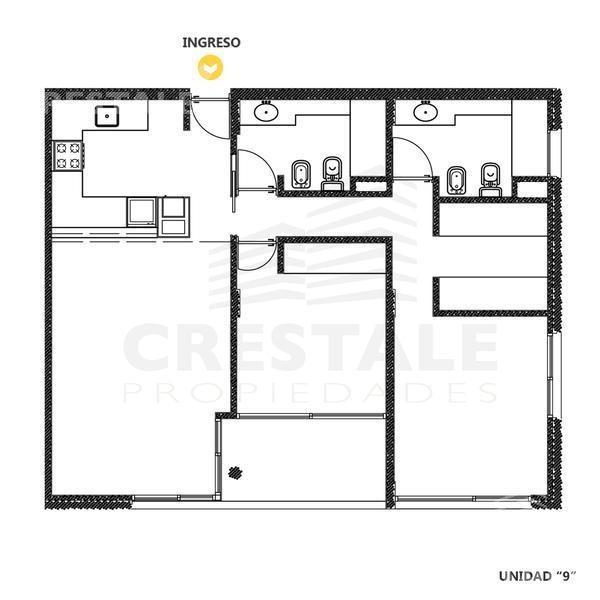 venta departamento 1 dormitorios - funes