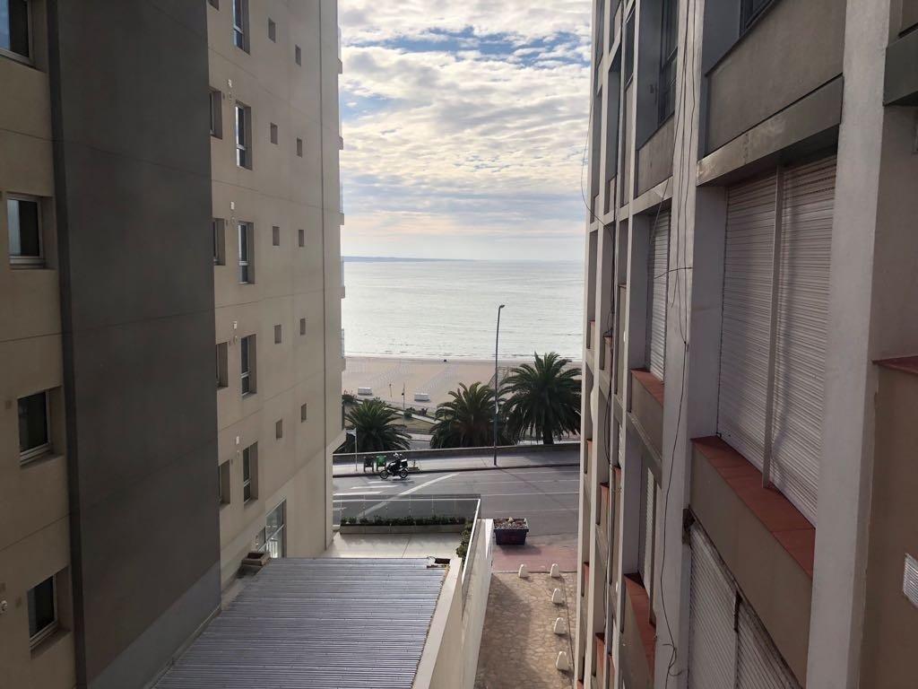 venta departamento 1  ½ambiente amplio vista al mar
