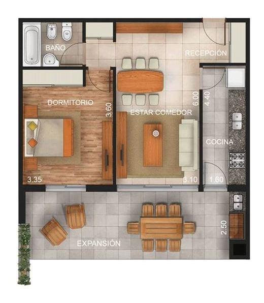 venta departamento 2 amb en maschwitz con jardin