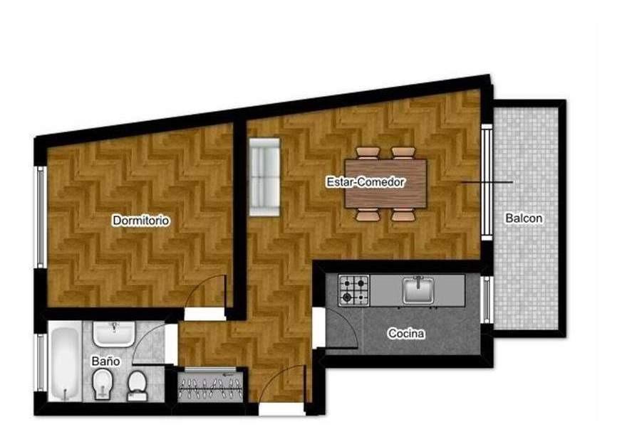 venta departamento 2 ambientes con balcón en villa lugano