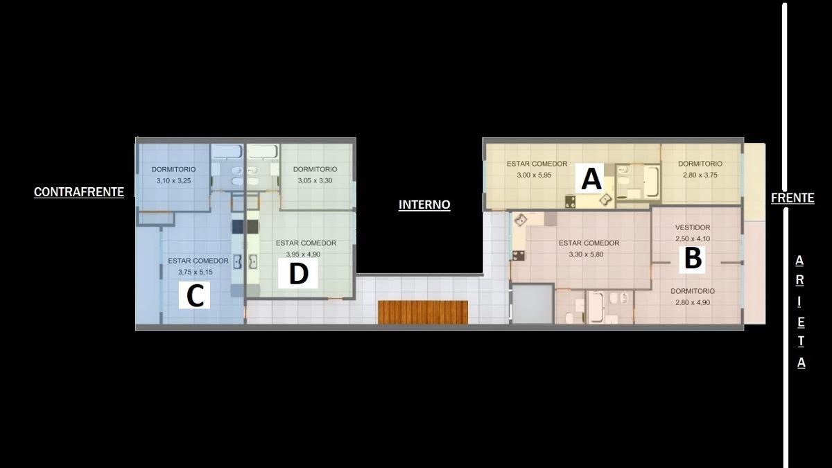 venta departamento 2 ambientes en san justo con balcon