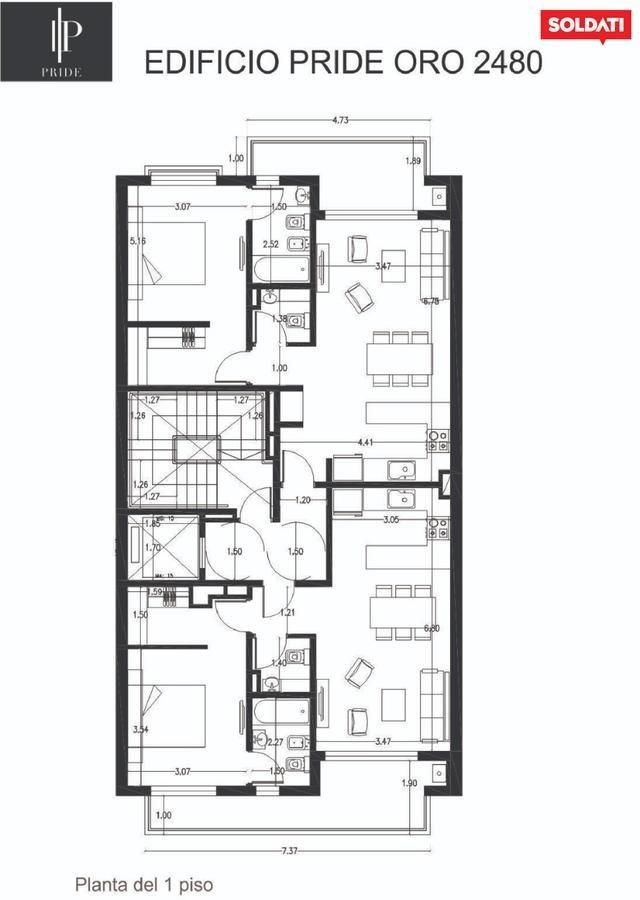 venta departamento 2 ambientes - palermo
